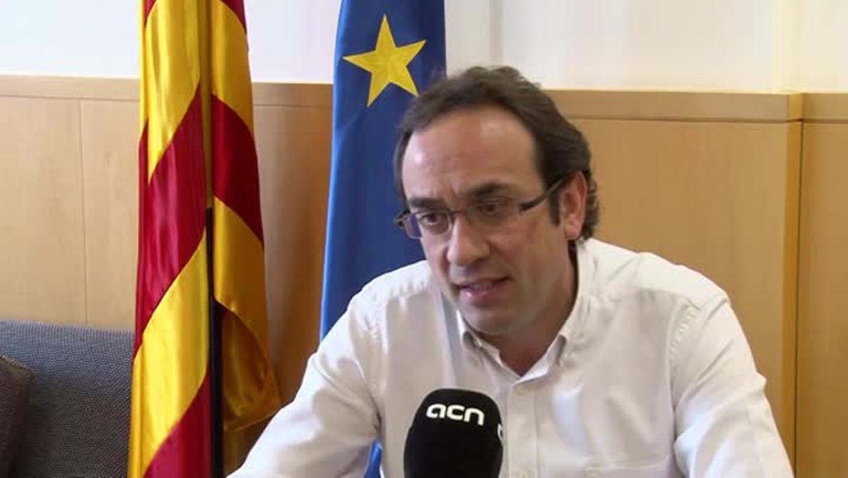 Josep Rull, durante la entrevista con la Agència Catalana de Notícies.