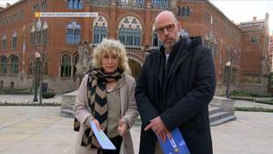 Mònica Terribas y Jordi Basté, durante la Marató de TV-3, dedicada a la covid-19.