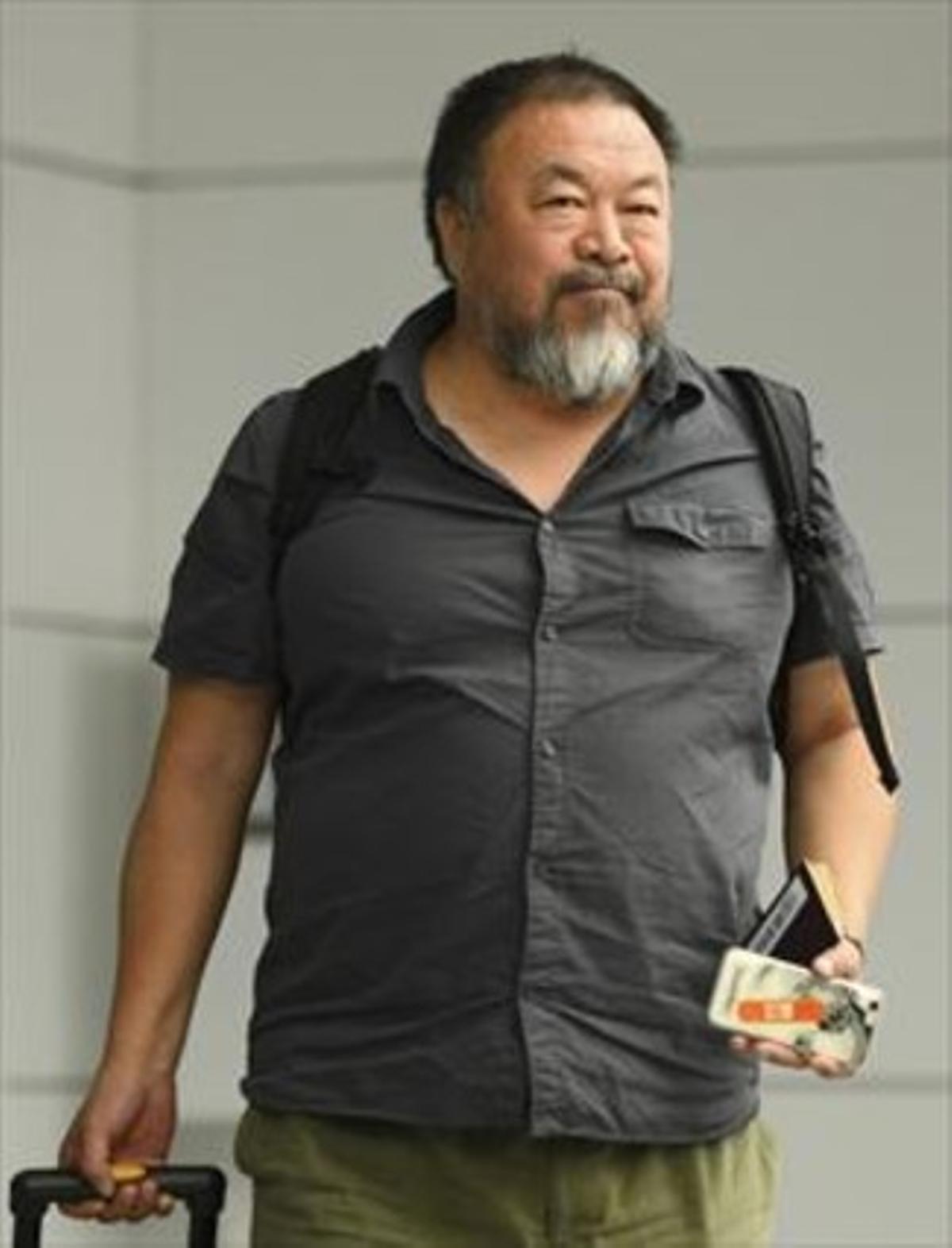 Ai Weiwei, el pasado julio, cuando China le devolvió el pasaporte.