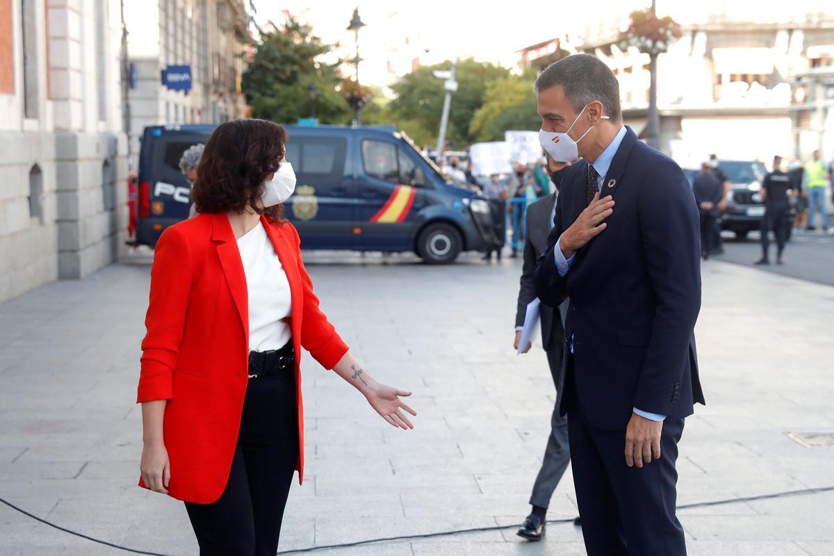 Isabel Díaz Ayuso y Pedro Sánchez.