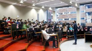 Una clase en la Pompeu Fabra, en Barcelona.