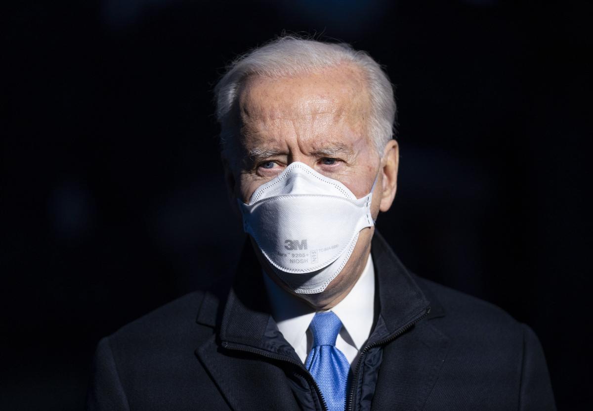 El presidente de EEUU, Joe Biden, comparece ante la prensa en Camp David, el pasado viernes.