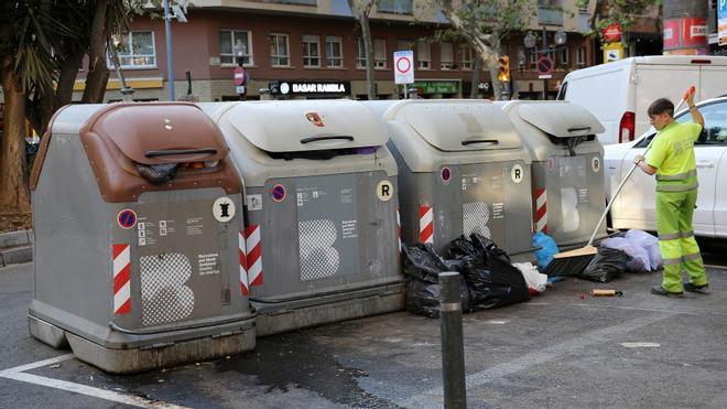 Serie de problemas con la basura en Sant Martí