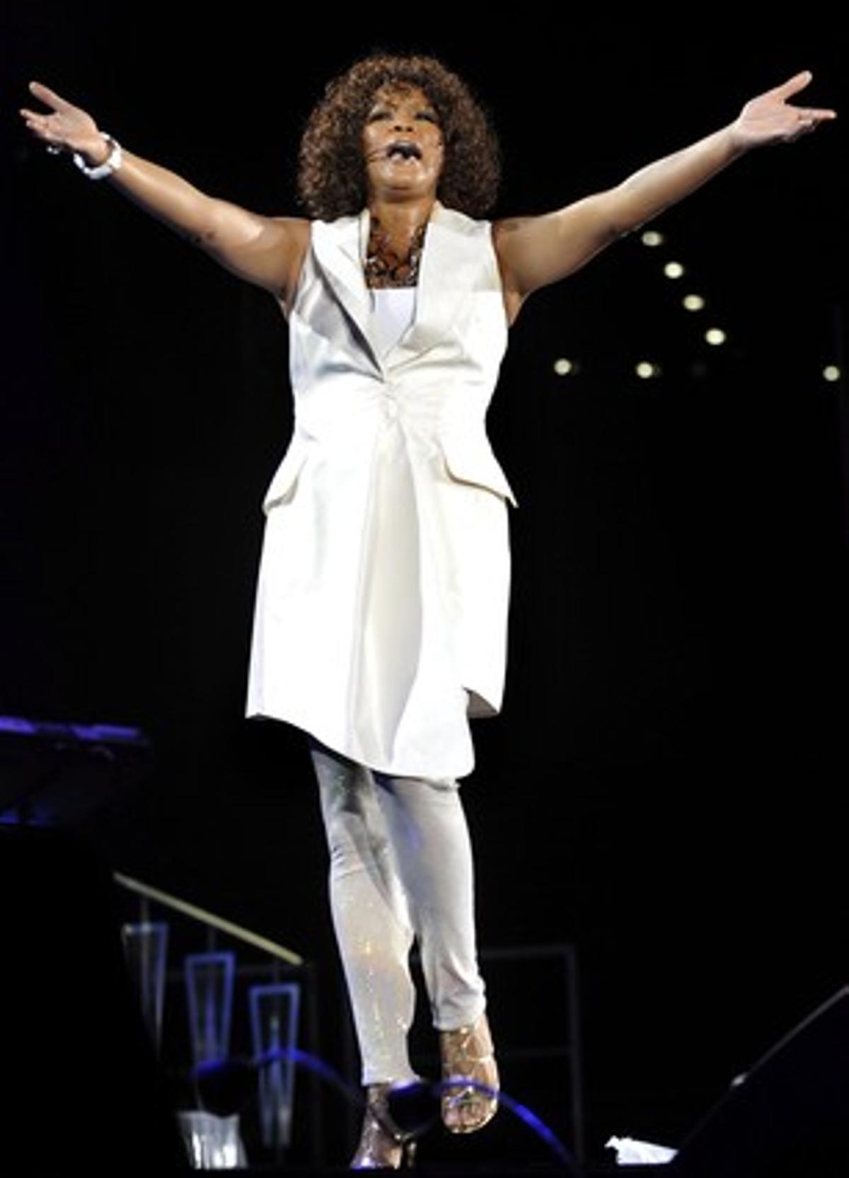 Whitney Houston durante un concierto en Zúrich el 9 de mayo de 2010.