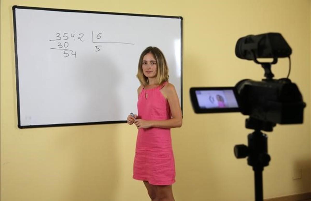 Cristina Álvarez, del proyecto 'on line' Unprofesor.com.