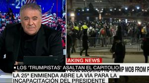 """Ferreras interrumpe sus vacaciones por el asalto al Capitolio: """"Es una especie de golpe de estado"""""""