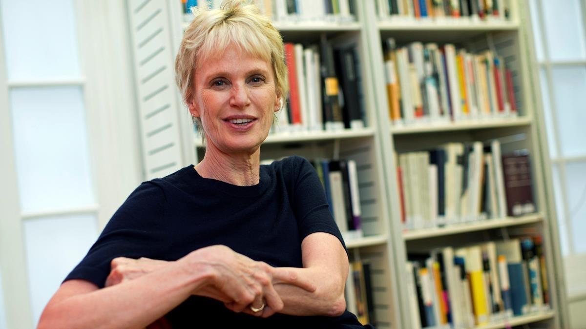 La escritora estadounidense Siri Hustvedt, en el Instituto Cervantes de Londres en el 2019.