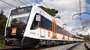 Un tren de Ferrocarrils de la Generalitat.