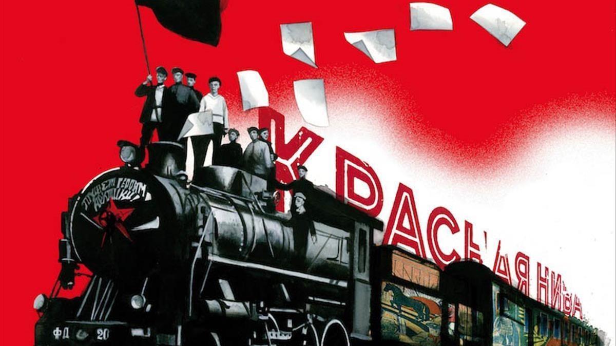 Ilustración de Fernando Vicente para 'Diez días que sacudieronel mundo', la crónica de John Reed sobre la revolución rusa.