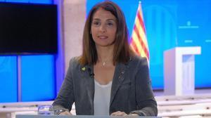 Meritxell Budó, 'consellera' de Presidència y portavoz del Govern.