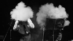 Recital deXavier Theros y Rafael Metlikovez,Accidents Polipoètics, en el Sant Andreu Teatre deBarcelona en 1993.