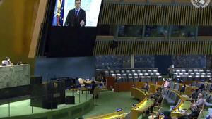 Sánchez recorda a l'ONU l'«obligació pràctica i moral d'actuar units»