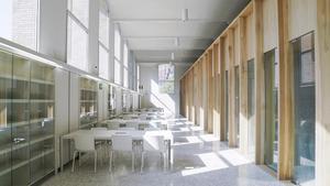 Instalaciones de la nueva Escola de Mitjans Audiovisuals, en la antigua fábrica de Can Batlló.