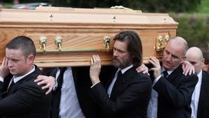 Jim Carrey, en el funeral de su exnovia Cathriona White, enseptiembre del 2015.