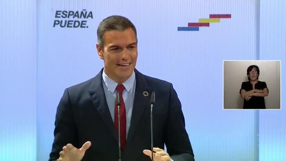 Sánchez pide unidad a los partidos para que no haya una España contra otra.