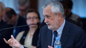 José Antonio Griñán, este miércoles, durante el juicio por el 'caso ERE'.