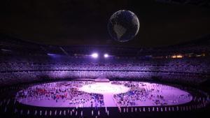 Ceremonia de inauguración de los Juegos Olímpicos de Tokio 2020.
