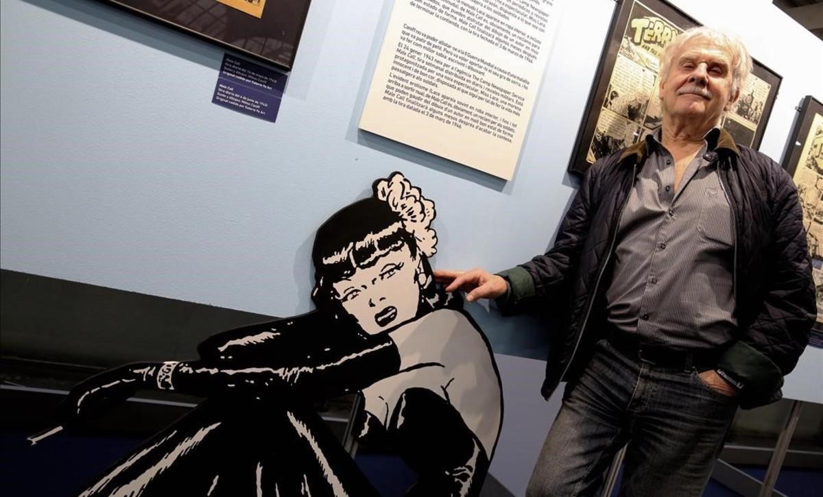 Hermann, el sábado en la exposición de Milton Caniff del Salón del Cómic.