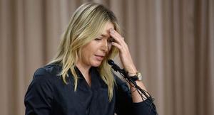 Sharapova se dirige a los medios en Los Ángeles para confirmar su dopaje.