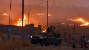 Incendioen la localidad deLa Candelaria, en la provincia de Córdoba.