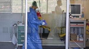 Personal sanitario en un hospital de Asturias.