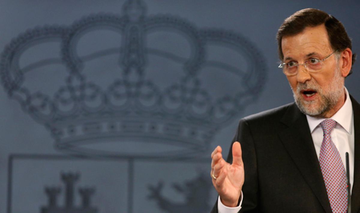 Rajoy asegura que el Gobierno ayudará a Catalunya, al igual que al resto de comunidades autónomas.