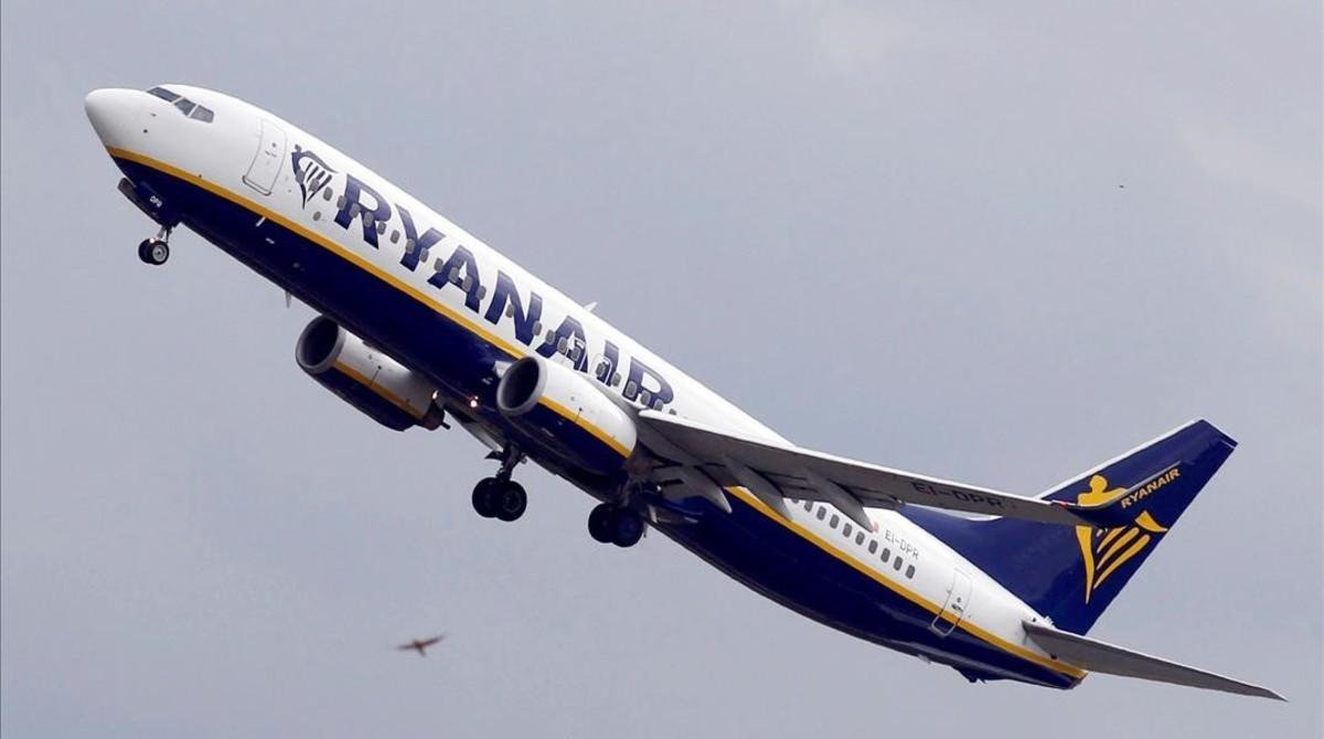 Un avión de Ryanair en una imagen de archivo.