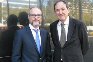 Carlos Lurigados y el doctor Angel Chamorro, cofundadores de FreeOx Biotech.