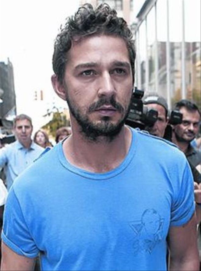 El actor Shia LaBeouf.