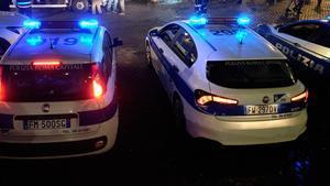 Vehículos de la Policía de Roma.