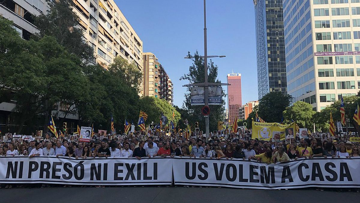 La cabecera de la manifestación.