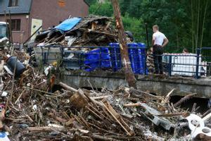 La destrucción ocasionada por las fuertes lluvias e inundaciones en la localidad de Ensival, en Bélgica.