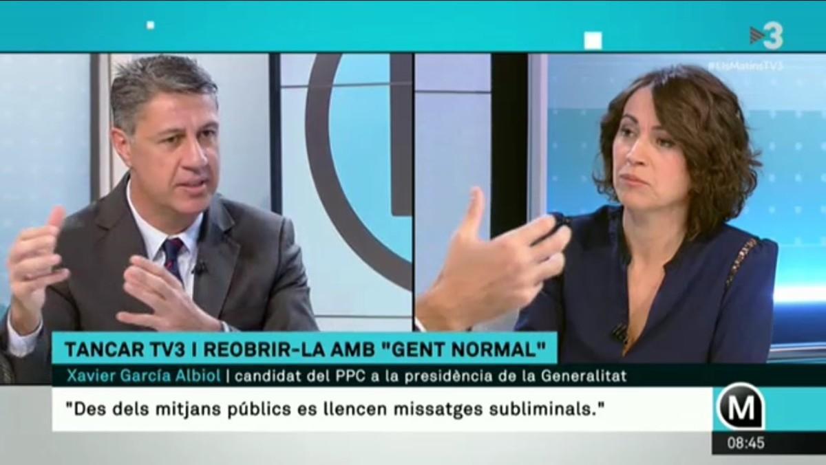 Albiol considera que los presentadores de la cadena son agitadores del independentismo y su director un activista de esta causa