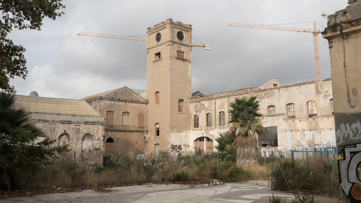 Una imagen con el estado actual de Can Ricart, en Poblenou.