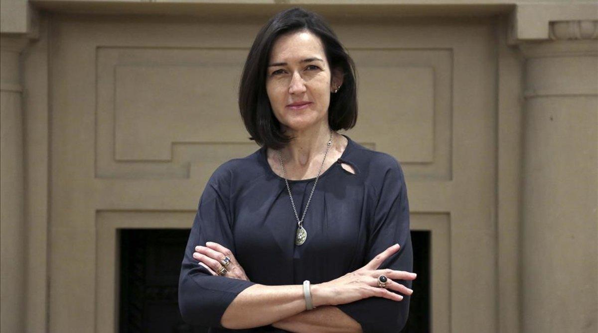 Ángeles González-Sinde, en un hotel de Madrid, el pasado viernes.