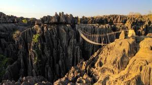 La reserva natural de 'tsingy' de Bemaraha. La lluvia y el tiempo han formado los pináculos de roca caliza.
