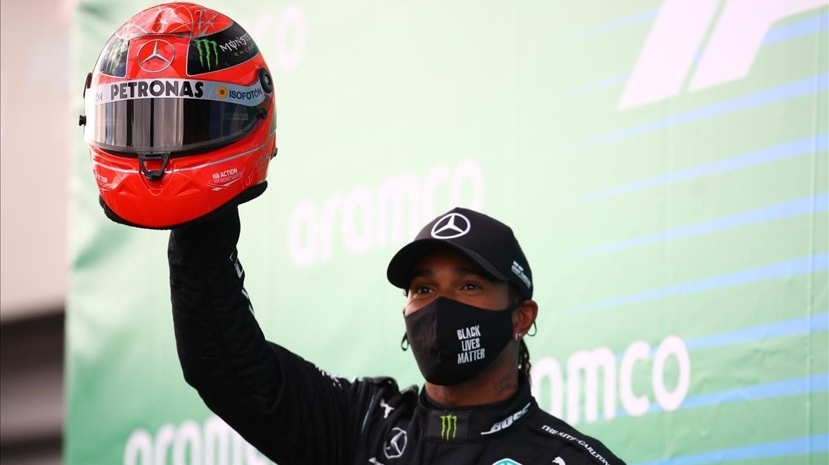 Lewis Hamilton gana en Nürburgring e iguala el récord de victorias de Michael Schumacher.