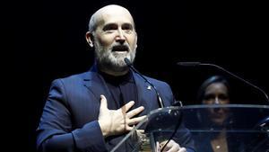 El actor Javier Cámara recoge el premio de la Unión de Actores.