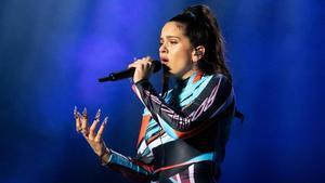 Rosalía, durante una actuación en Houston, Texas, el pasado sábado.
