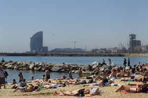 La playa del Somorrostro, en una imagen de archivo.