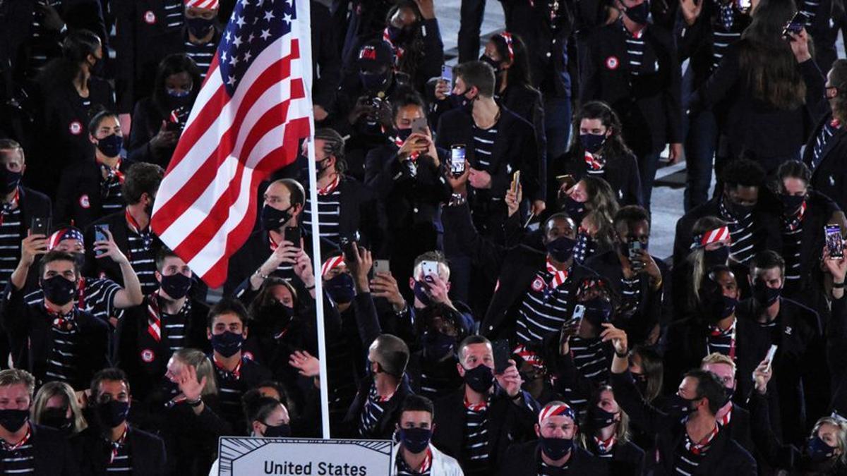 Delegación de Estados Unidos en la ceremonia de apetura de los Juegos Olímpicos de Tokio 2020