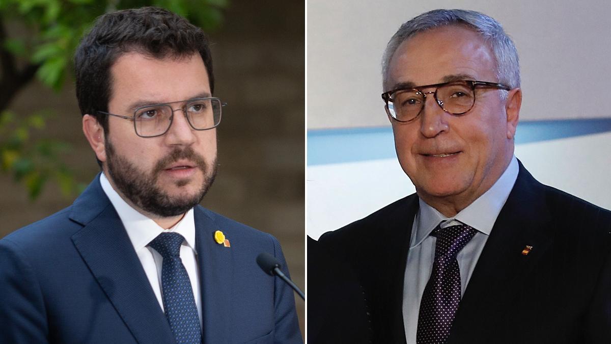 Pere Aragonès y Alejandro Blanco Bravo.