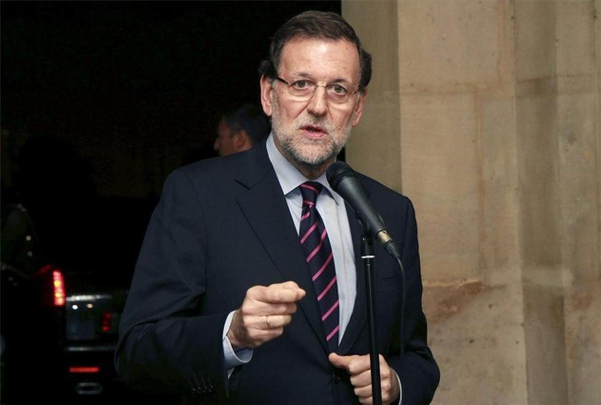 El presidente del Gobierno, Mariano Rajoy, en su comparecencia en París.