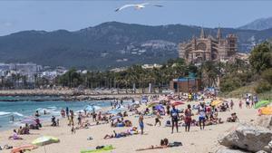Playa de Can Pere Antoni, en Mallorca.