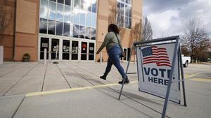 Un colegio electoral en Georgia.