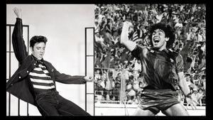 Elvis y Maradona, en plenitud de facultades.