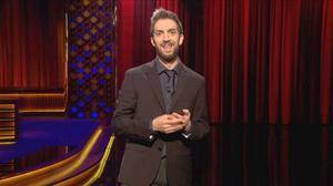 El humorista David Broncano, durante sumonólogo, en el programa 'Late motiv' de #0.