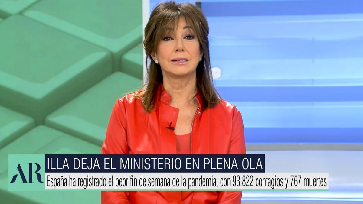 """Ana Rosa, muy dura con Salvador Illa: """"Se va dando un portazo a los españoles"""""""