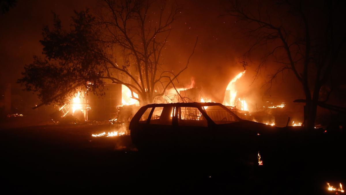 Incendio en Atenas