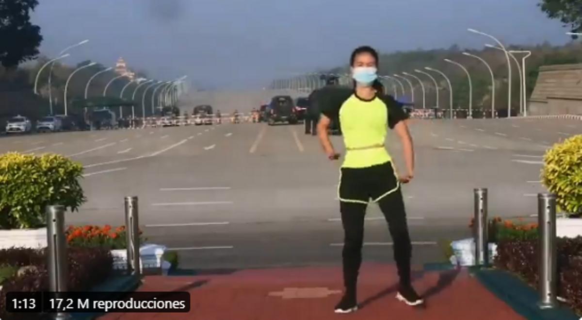La profesora de aerobic durante el golpe de Estado.